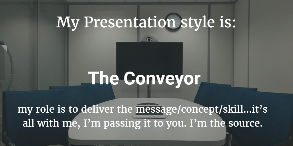 Presentation Style Assessment : Conveyor / Developer / Motivator / Enabler 2